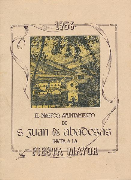 1956 PROGRAMA FESTA MAJOR