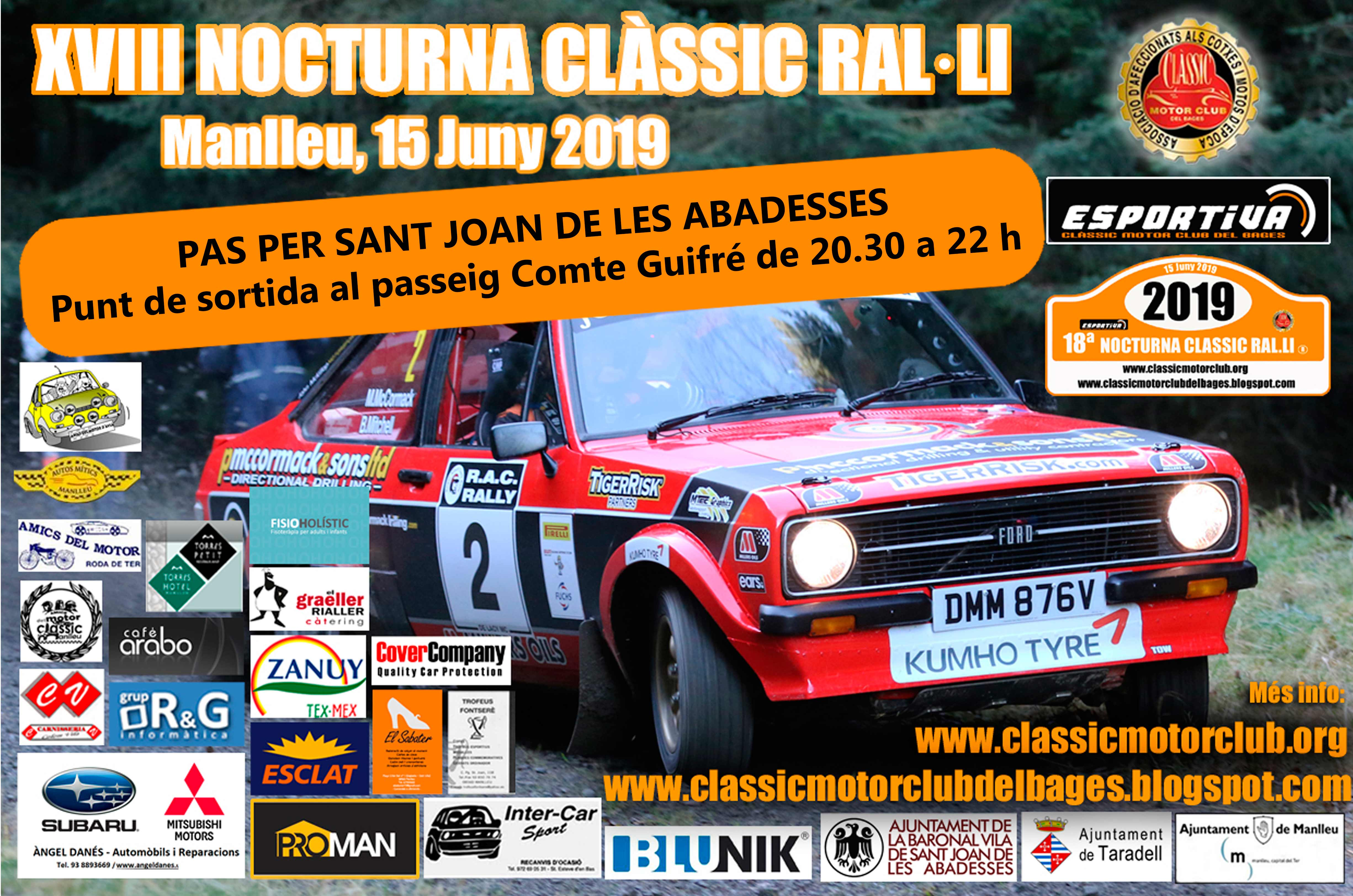 Nocturna Classic Cartell pas Sant Joan agenda